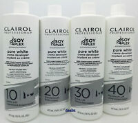 Clairol Pure White Soy4Plex Hair Creme Color Developer VOL 10,20,30,40 473ml
