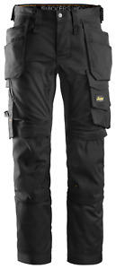 SNICKERS WORK TROUSERS ALLROUNDWORK 6241 STRETCH HOLSTER POCKET TROUSERS. BLACK
