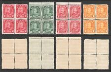 CANADA 1930 -1931 KING GEORGE V BLOCK LOT OF 4 (MNH)