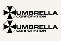2X Black Umbrella Corporation Hive Resident Evil Vinyl Sticker Car  Window Decal