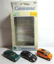 CARARAMA 1:72 DIECAST 3 CAR PACK - MERCEDES MB A-CLASS, CLK COUPE & PORSCHE 911