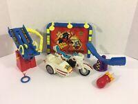 Tyco Crash Dummies Lot of Parts Accessories Slam Cycle Junkyard Playset