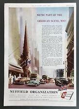 NUFFIELD - Vintage Magazine Advert (1952) American Scene, Motoring, Cars *