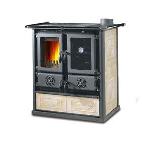 Stufa cucina a legna NORDICA Rosetta BII 7,2 kW liberty pergamena