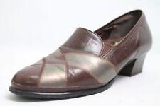Helioform Schuhe Slipper braun bronze echt Leder Vario Gr. 42 (UK 8)