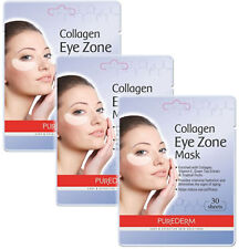 3Pack 90 Sheets Purederm Collagen Eye Zone Pad Patches Mask Wrinkle Care