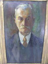 Janssen Peter 1906-1979 Gemälde Portrait Mann mit Schnurrbart & Krawatte