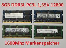 1x 8GB SO-Dimm PC3L DDR3L 1,35V 12800 1600Mhz RAM Notebook Arbeitsspeicher
