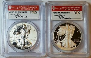 2012 American Eagle San Francisco Two-Coin Silver Proof Set PCGS PR70 Mercanti
