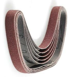 Silverline Sanding Belts, Aluminium Oxide Abrasive Grain - 13 x 457mm, 5 Pieces
