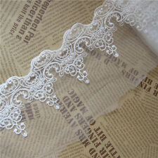 1 Yd Cotton Tulle Lace Edge Trim Ribbon Appliques Embroidered Handicrafts Sewing
