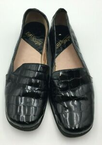 """Easy Steps Womens Black Patent Leather Shoes """"Kingston"""" 6C Comfort Loafer Style"""