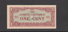 1 CENT AUNC BANKNOTE FROM JAPANESE  OCCUPIED BURMA 1942 PICK-9b