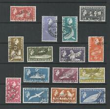 SOUTH GEORGIA 1963 SHORT SET FINE USED SG;1-15 CAT £75
