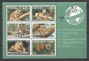 PK193 GUINEA FAUNA WILD ANIMALS ANIMAUX DU MONDE EXTINCTION 1KB MNH STAMPS