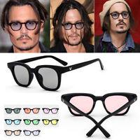 Tinto Lenti Retro Vintage Celebrità Unisex Stilisti Johnny Depp Occhiali da Sole