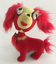 Joseph Boxer Co Jay Bee Vintage Red Dog Plush Stuffed Toy Bell