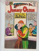 """Superman's Pal, Jimmy Olsen 56 VG- (3.5) 10/61 """"The Son of Jimmy Olsen!"""""""