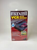 New Maxell VCR Video Head Cleaner Wet Type VHS VP-200 Factory Sealed