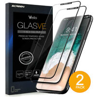 [2pack] Apple iPhone X Black Premium Tempered Glass Screen Protector Shield 2019