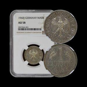 GERMANY. 1960, Mark, J - NGC AU58 - Key Date, Top 3, Hamburg