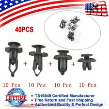 40Pcs Car Body Bumper Push Pin Rivet Retainer Trim Moulding Fender Clip Asso New