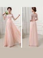 Women Formal Wedding Bridesmaid Long Evening Party Prom Gown Cocktail Dress New
