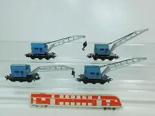 BP706-1 #4x Märklin H0 / Ac Bastler-Kranwagen Krupp-Ardelt Db : 4611+4912