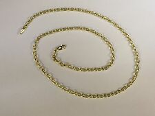 "14k Gold Round Cable ROLO Link Pendant Chain/Necklace 22"" 3.2 mm 4 grams"