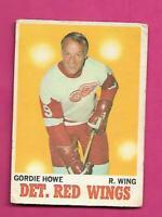 1970-71 OPC  # 29 DETROIT RED GORDIE HOWE FAIR  CARD (INV# D3623)