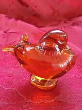 FLAWLESS Exceptional BACCARAT Crystal Amber MANDARIN DUCK PIGEON DOVE LOVEBIRD