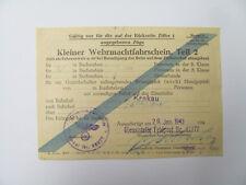 Kleiner Wehrmachtfahrschein,Teil 2 Krakau - Zakopane.Dienstelle FP 45277.  1943