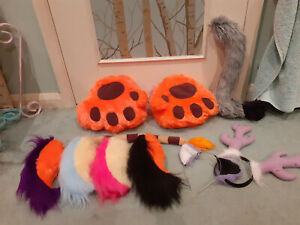 Lot of Miscellaneous Fursuit / Cosplay / Costume Parts - Good Condition