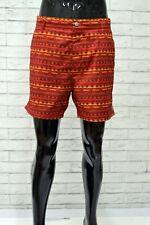 Costume Vintage Uomo Da Bagno Mare Piscina OBEY Taglia 50 Short Man Poliestere