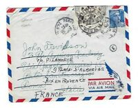 1954 Paris France, Airmail to Rome Italy, Returned, Officially Sealed LABEL