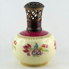 """Ancienne LAMPE BERGER PARIS """"Fleur"""" REVOL Porcelaine, or/gold/flowers/limoges..."""