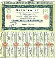 Metrocolex > Paris, France Africa old stock certificate share