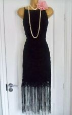 NEXT 1920s Style Gatsby Flapper Charleston Fringe Tassel  Dress Size 12