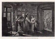 68 ALSACE CHEZ LE PHARMACIEN IMAGE 1884 OLD PRINT