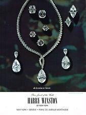 PUBLICITE ADVERTISING 054  1964  HARRY WINSTON   joaillier