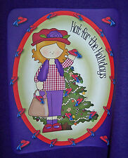 3X PURPLE T SHIRT FOR RED HAT LADIES OF SOCIETY W/ CHRISTMAS DECORATION