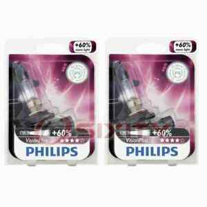 2 pc Philips High Beam Headlight Bulbs for Honda Accord Accord Crosstour wu