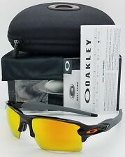 NEW Oakley Flak 2.0 XL sunglasses Black Fire Iridium 9188-22 TEAM XLJ Jacket NIB