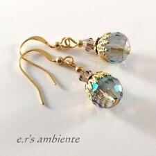 Ohrringe mit GLAS-Perlen, Gold-Vintage-Look, Ohrhänger, 0107