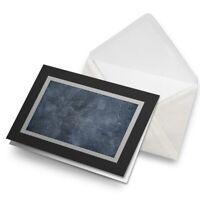 Greetings Card (Black) - Dark Stone Slate Wall Colour Birthday Gift #21449