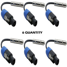 """Pyle 12Ga Compatible Speakon Connector Male to 1/4""""Female Cable Adapter Lot of 6"""