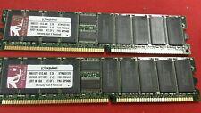 2GB 2x1GB Kingston KTM5037/2G DDR PC-2100 Reg ECC 266Mhz RAM Memory