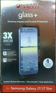 New Zagg Invisible Shield (glass+ Extreme Impact) for Samsung Galaxy J7/J7 Star