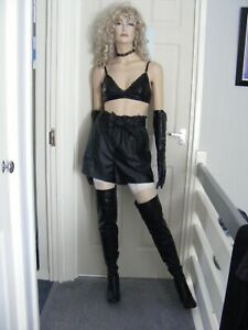 LEATHER LOOK PU SHORTS