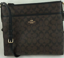 New Coach F58297 File Bag Messenger Crossbody Bag Purse Handbag Brown/Black
